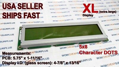 HYeLCD 20x2, X-Large character LCD module display, YELLOW/GRN backlight | NEW