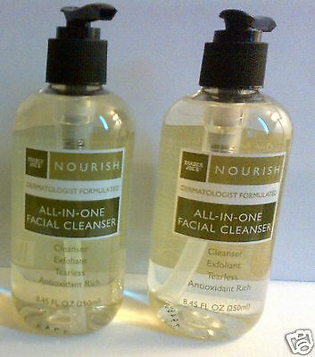 TWO Bottles Trader Joe's Nourish All-In-One Facial Cleansers Fragrance Free
