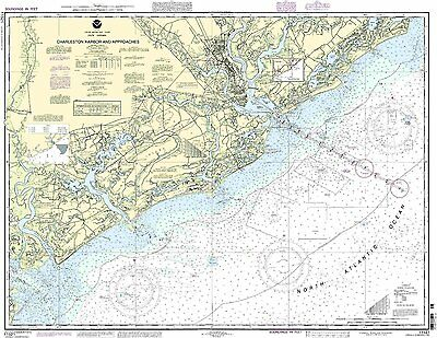NOAA Chart Charleston Harbor and Approaches 30th Edition 11521