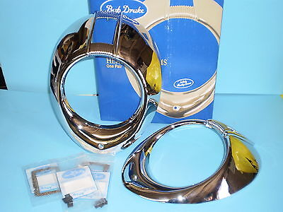 1940 Ford deluxe headlight rims & related parts , Also fits 1940 Mercury
