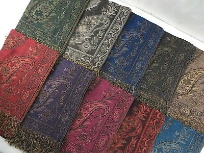 US Seller-bulk lot 10pcs vintage flower paisley viscose pashmina scarves shawls