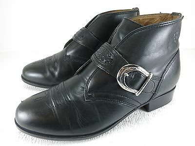 Ariat Chukka Belt Buckle Boots Leather Thick Rubber Soles Boots Eur37.5 US 7B