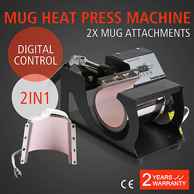Digital Mug Cup Heat Press Transfer Machine 2In1 Sublimation Printing Adjustable