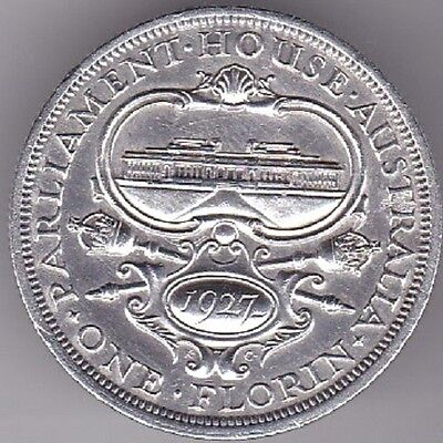 1927 Australian Florin Canberra Commemorative Sterling Silver Coin