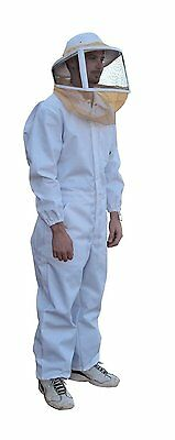 Mann Lake CL632 Cotton/Polyester Deluxe Bee Suit with Zipper Veil, Large , New,