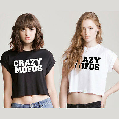 Crazy Mofos AUSSCHNITT TOP T Shirt 1D One Direction Swag Hipsta Harry Niall