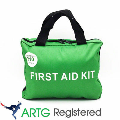 210 Pieces First Aid Kit ARTG Registered - A Must Have for Every Family GREEN