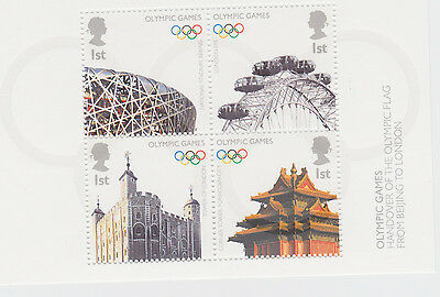 2008 Olympic Games GB Miniature Sheet of mint stamps (GB Mini Sheet No. 56)