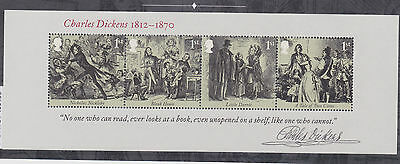 2012 GB STAMP Miniature Sheet   CHARLES DICKENS   As issued Unmouted Mint