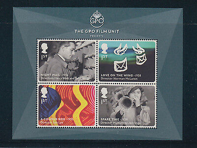 GB Miniature Sheet  2014 GREAT BRITISH FILMS   (The GPO Presents  as issued Mint