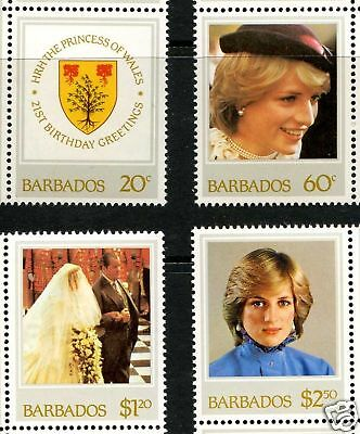 Barbados  1982 21st Birthday Princess Di MNH GP Avail.