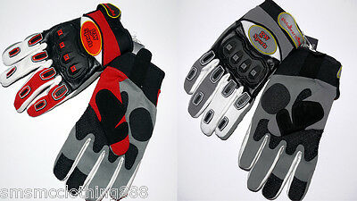 Brand New Textile Gloves Ideal for MotoX/BMX - Knuckle Protection- Size Medium