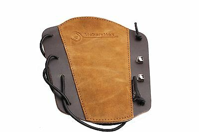HandMade TRADITIONAL ARCHERY LEATHER Black ARM GUARD FOR LONGBOW