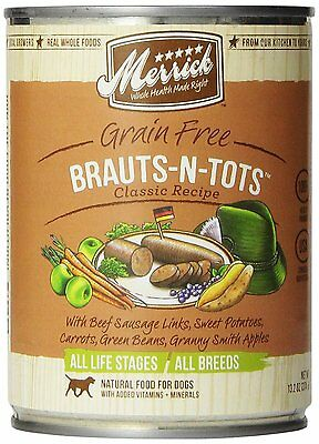 Merrick Brauts-N-Tots Dog Food 13.2 oz , 12 Count , New, Free Shipping