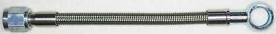 "AN-4  12"" long, stainless steel braid hose, ST X ST banjo 12MM  NC"