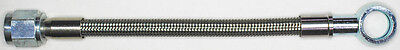 "AN-4  36"" long, stainless steel braid hose, ST X ST banjo 12MM  NC"