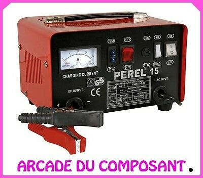 CHARGEUR POUR ACCU PLOMB 12/24V - FONCTION BOOST 9A - CAMPING-CAR (ref 74207-1)