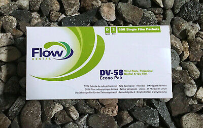 FLOW DENTAL- DV-58 Econo Pak (Periapical Dental X-ray Film) # 18204 Exp. 2020-04