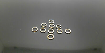 10 x 9ct gold open jump rings 5mm, o ring jewellery making ring repair