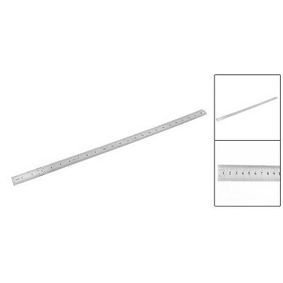 Y38 Stainless Steel 60cm 24.6 Inch Measuring Long Straight Ruler