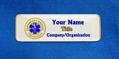 Emergency Medical Technician EMT Custom Personalized Name Tag Badge ID Seal