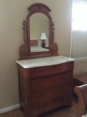 Beautiful Antique dresser with marble top and mirror