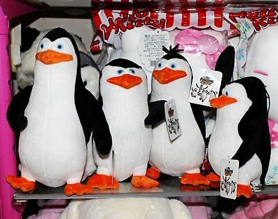 4PCS The Penguins of Madagascar Plush Stuffed Toys Dolls Gift 21-30cm