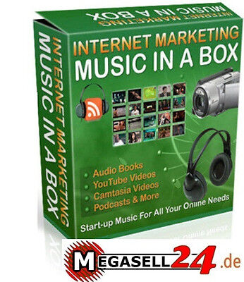 ★Legal Music In A Box V1 101 Musikclips Audio Marketing Spot Jingle Werbung Mrr