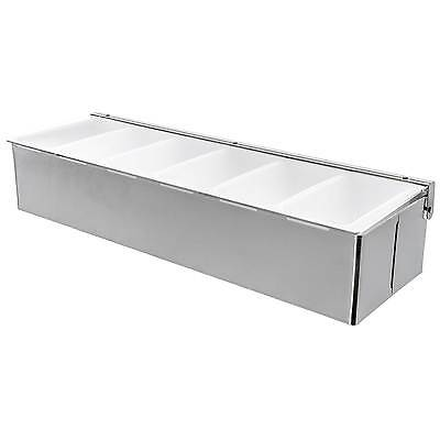Stainless Steel 6-compartment Condiment Holder