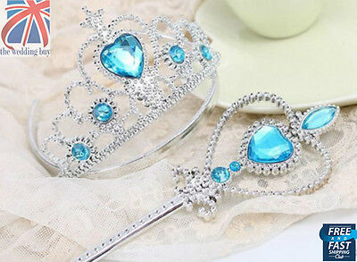 Frozen Princess Elsa Wand & Tiara Dressing Up Children Frozen 2 Piece Set CPS002