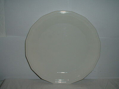 """Homer Laughlin Colonial White 12"""" Chop Plate/Round Serving Platter"""