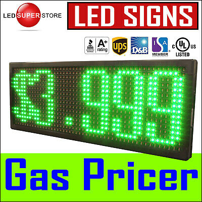 "13"" x 38"" SUPER LED GAS STATION PRICE CHANGER Electronic Fuel Digital Sign"