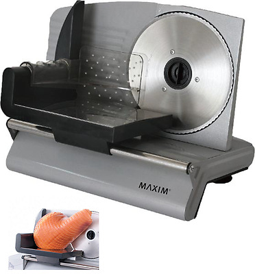 200W Food Meat Slicer Electric Deli Cutter Cheese Fruit Vegetables Bread Cutter