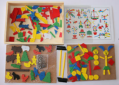 Hammering Toy for 2 Hammer Nail Tap Tap Set Mosaic & Farm in Wooden Box