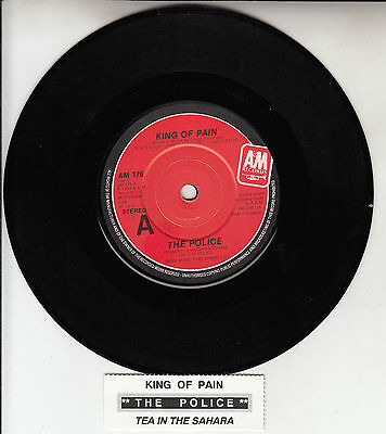 "THE POLICE King Of Pain 7"" 45 rpm vinyl record + juke box title strip"