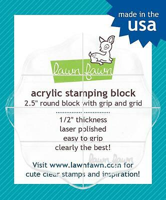 """Lawn Fawn Acrylic 2.5"""" Round Stamping Block LF497 - The Rubber Buggy"""