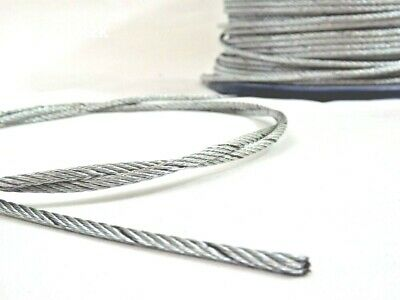 Wire Rope Stainless Steel Metal Cable Price Per Metre FREE P&P Few Diametres