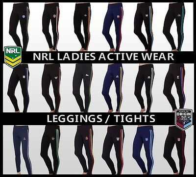 NRL Ladies Activewear Tights 'Select Your Team' BNWT Leggings Gym