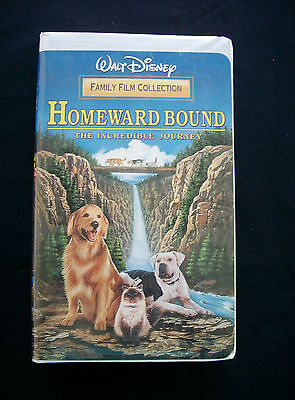 Homeward Bound: The Incredible Journey (VHS, 1998, Clam Shell, Disney)