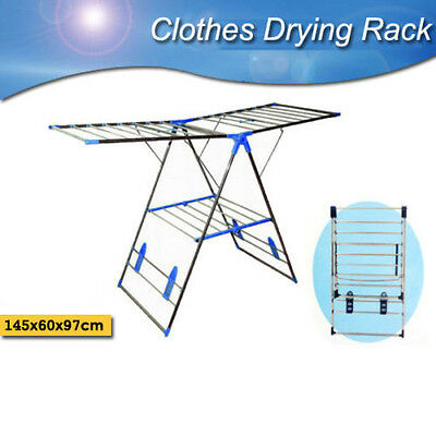Stainless Steel Dryer Clothes Garment Rack Laundry Drying Hanger Airer Foldable