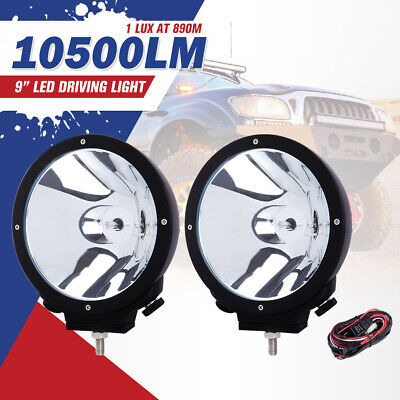 PAIR 9INCH 100W HID XENON DRIVING LIGHTS spotlight OFFROAD WORK LIGHT UTE SECKIL