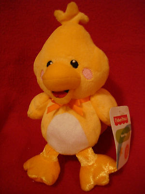 "Fisher-Price 8"" Bean Bag Yellow Duck Baby Farm Plush New with Tag"
