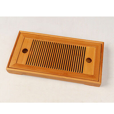 New Bamboo Gongfu Tea Tray Chinese Serving Table Mini Size Quality 25*15* 5cm