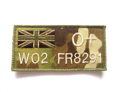 Ivory Stitch Union Jack Subdued Zap Badge  Trf Mtp Patches