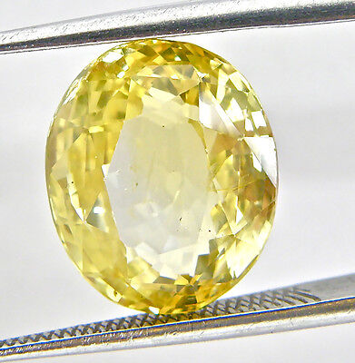 Lab Created Hydrothermal Yellow Sapphire AAA Oval Loose stone (4x2mm-16x12mm)