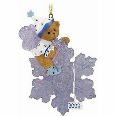 Cherished Teddies 2009 Dated Ornament May Your Holidays Sparkle FREE SHIPPING