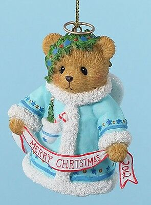 Cherished Teddies Dated 2012 Bell Ornament Wishing You A Heavenly Holiday FREE S