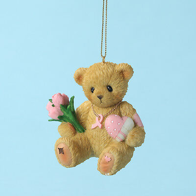 Cherished Teddies Healing Starts With Hope In Your Heart Breast Cancer Ornament