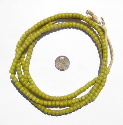 African Old Yellow Kenya Turkana Beads Ghana