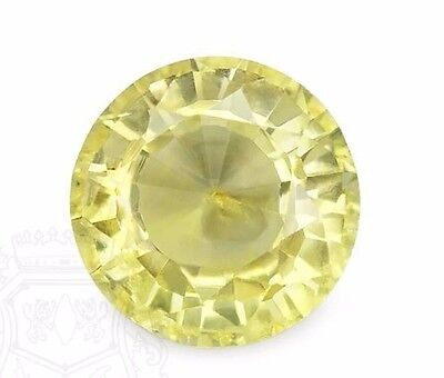Lab Created Hydrothermal Yellow Sapphire Round Shape Loose stone (2mm - 12mm)